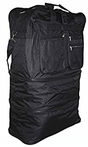 Xxl Wheeled Cargo Duffle Floding Holder Travel Expandable Holdall Travel Bag New by EYESONTOES