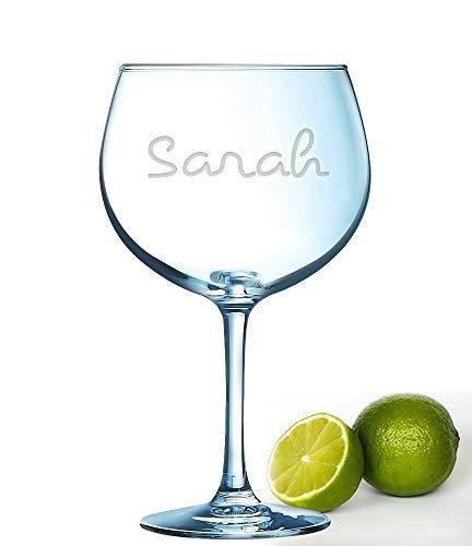 Personalisierbares Gin Glass Island inspiriertes Glas, 72 cl, Wacholderglas mit Gravur Ihres Namens, Reality TV, Wasserflasche, Merchandise