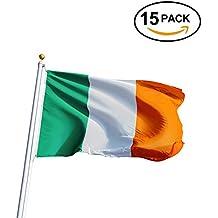 Los Twiddlers – St Patricks Day - Feliz Día de San Patricio – Banderines Bandera Nacional Irlandesa – Irlanda - Tamaño Perfecto 21cm X 14cm (Paquete de 15 banderas)