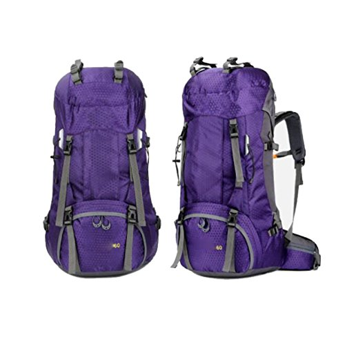 Outdoor Sport Wandern Camping Rucksack Pack Erkunden Trekking Klettern Rucksack Tasche,Green Purple