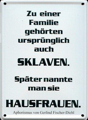 Preisvergleich Produktbild Retro Wandschild Designer Schild Sklaven.. Deko 8x11cm Nostalgie Metal Sign A652