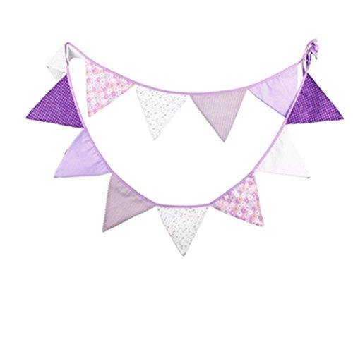 Affe réutilisable de Noël Mariage Fête d'anniversaire bannière drapeau fanion Triangle Triangle