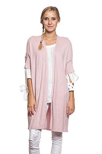 Abbino CG002 Cardigans Ragazze Donne - Multiplo Colori - Transición Primavera Estate Elegante Casuale Dolce Flessibile Moda Giovane Tendenza Saldi Delicato Comodo Moderno Esterno Fashion Rosa (Art. 2427)