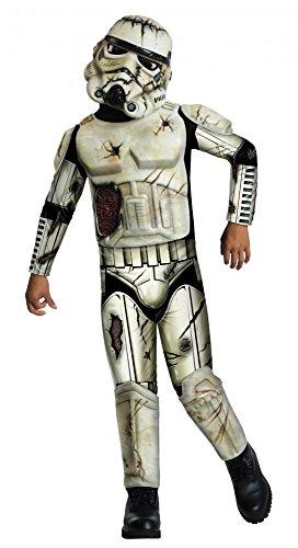 Star Wars Deluxe Kostüm Death Trooper für Kinder Kinderkostüm Halloween Gr. S-L, (Death Deluxe Kinder Trooper Kostüme)
