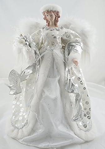 Cosette Noël Angel Candy Jar Box pour Noël Décoration 16 Pouces Argent