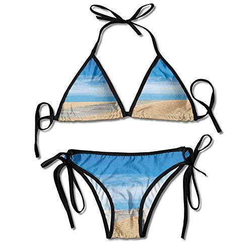 Women's Bathing Bikini Set,Sand Dune Secret Paradise Sexy Bikini 2 Pieces - Dune Gift Set