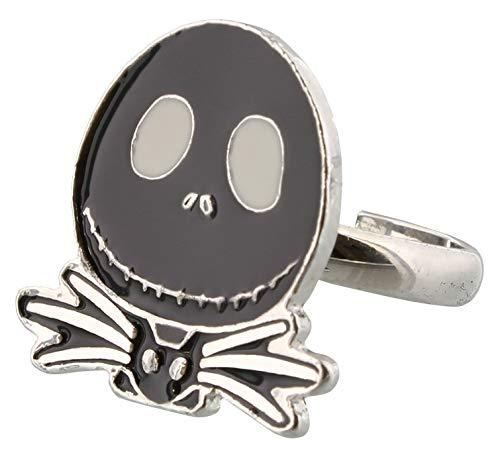 The Nightmare Before Christmas silberfarben Ring Jack mit schwarzem Fliege (Jack Und Ringe Sally)