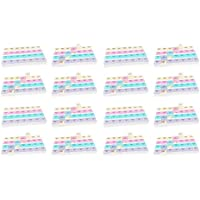 Preisvergleich für 16x Tablettenbox für 7 Tage - mit jeweils 4 Fächern pro Tag, Kunststoff, 19 x 13 x 3 cm (LxBxH)