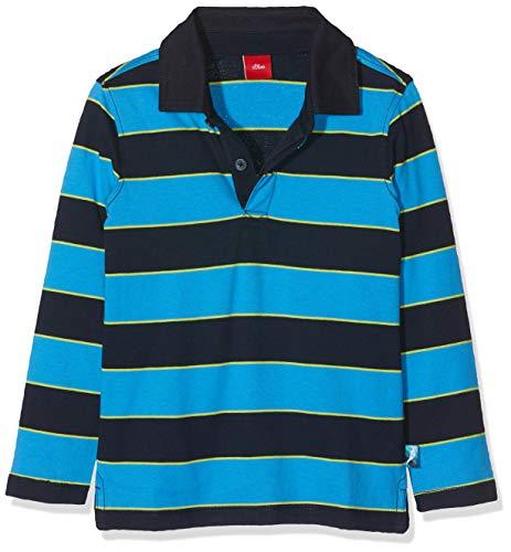s.Oliver Jungen 63.908.35.5939 Poloshirt, Blau (Dark Blue knittedstripes 59G3), ((Herstellergröße:116/122/REG)
