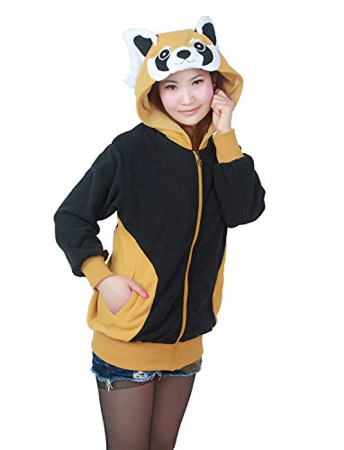 Adelina Tier Hoodie Jacke Pullover Party Kostüm Unisex Fasching Cosplay Karneval Oberteile Fashionable Completi 2019 Herren Kleidung (Color : Waschbär, Size : - Süßer Waschbär Kind Kostüm