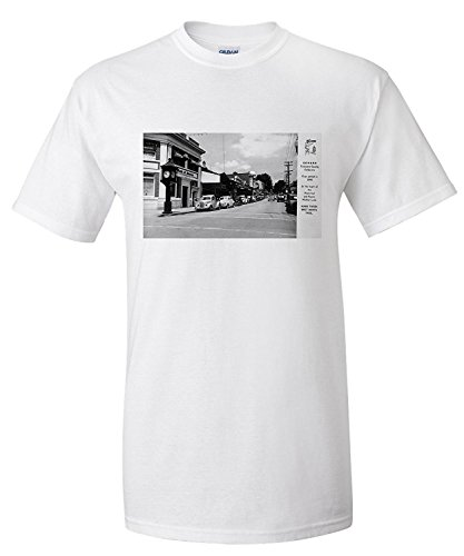 sonora-california-exterior-view-of-bank-of-america-building-town-clock-premium-t-shirt