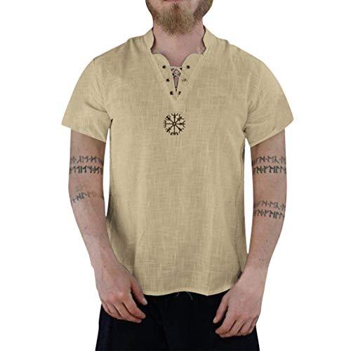 VWsiouev Mens Fashion T-Shirt Baumwolle T-Shirt Hippie Shirts Kurzarm Beach Yoga Top Herren Hawaiihemd Womens Original Fit Denim