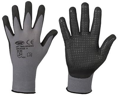 10 Paar Feinstrick - Handschuhe Nitrilbeschichtet Nahtlos Genoppt Sicherer Griff Gutes Tastempfinden von stronghand