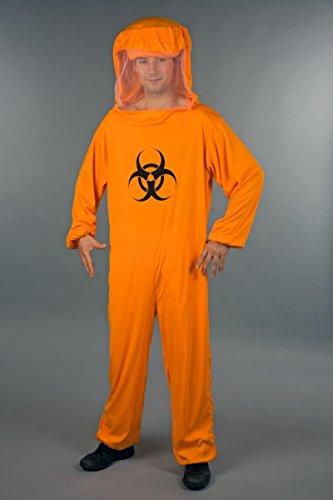 Biohazard Overall Herren Kostüm zu Halloween und Zombie - Kostüm Halloween Biohazard