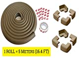 #10: LifeKrafts 5 Meters Thick Rubber Edge Cushion + 8 Corner Cushions|Colour - Antique Brown| Table Edges Guard for Baby , toddler , Child Safety | Edge Protector | Table Corner Cushions | Baby Proofing | Child Safety Furniture Bumper