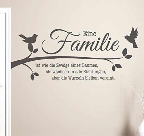 100x48 S Pkm208 Wandtattoo Familie Ist Wie Die Zweige Eines Baumes  Wandaufkleber Sprüche Wohnzimmer