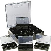 g8ds® Tackle-Box 4+1 Aufbewahrungsbox inklusive Trennwände und Bit Boxen Karpfenangeln Angelausrüstung