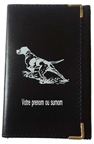 Tasche Schutz Schutzhülle für Kfz-Papiere-Führerschein Jagdhund Personalisierte mit Ihrem Namen