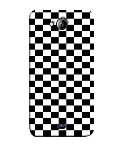 PrintVisa Designer Back Case Cover for MicromaxBoltQ338 (chess format bright checkered pattern)