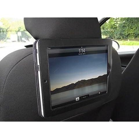 iTALKonline PADWEAR Esecutivo NERO Portafoglio CUSTODIA FLIP con In montaggio per auto poggiatesta / Holder Per Apple iPad 2 (2011) 2nd generation iPad 3