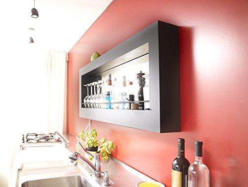 Encore Bar 110 Bar-Element Wandbar anthrazit mit LED-Licht