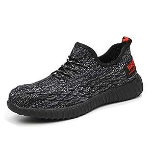 41c5mNwV9rL. SS300  - Zapatos Seguridad Hombre Mujer Punta de Acero Protección Zapatillas de Trabajo Industria y Construcción