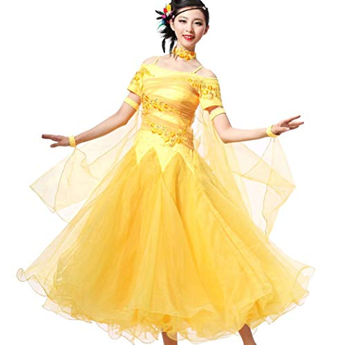 Tanz Moderne Performance Kostüm - SMACO Modern Dance Kostüme Gesellschaftstanz Kleider Walzer Tango Tanz Performance Kostüm Great Swing,E,M