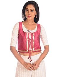 Salwar Studio Pink Ethnic Jacket - SSJ0003