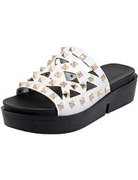 VuluaValas Damen Ohne Verschluss Sandalen Pantoletten Schuhe