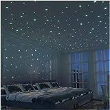 Brillante 3D Estrellas Pegatina de Pared Para dormitorio de niños - 326 Más Brillante Estrellas XL(10.5cm) - Luminosos, Fluorescentes y Brillantes en la oscuridad - DIY Decoración de la habitación Para Chico Niña Bebé