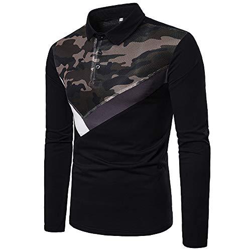 Herren Oberteile,TWBB Langarm Vintage Camouflage Drucken Pullover Sweatshirt Lange Ärmel Shirt