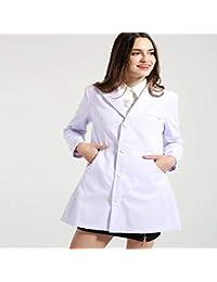 OPPP Ropa médica Slim Fit Ropa de Doctor Traje Bata de Laboratorio médico Hospital Salón de