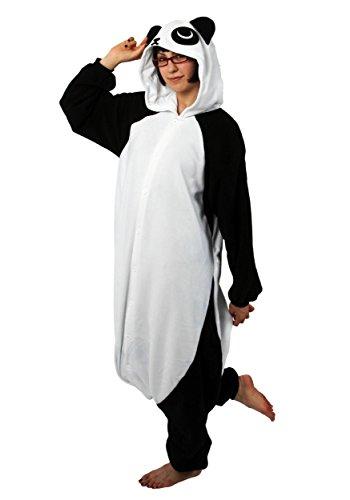 Besten Am Strampelanzug Kostüm - Kigu Herren Panda Strampelanzug, Schwarz, Medium