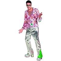 70 1970 la fiebre del disco para hombre vestido de lujo retro enrrollado del traje del bailarín de adultos