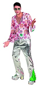 Boland 70 1970 la fiebre del disco para hombre vestido de lujo retro enrrollado del traje del bailarín de adultos
