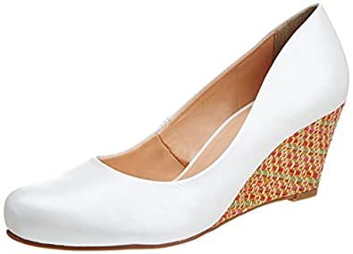 Pavers England Women's White Pumps - 8 UK