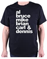 A Tribute To The Beach Boys T Shirt by Old Skool Hooligans - Names