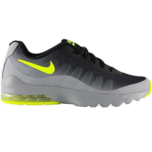 Nike Jungen Air Max Invigor (Gs) Joggingschuhe, Schwarz Mehrfarbig (Wolf Grey/volt/black)
