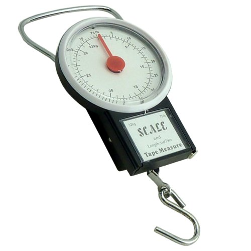 32 Kg Travel Suitcase Luggage Scales With 1 m Tape Measure