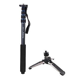 Andoer Einbeinstativ für DSLR-Kamera / Camcorder mit Stützbein, Mini-Stativ