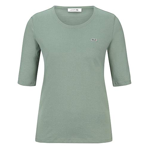 Lacoste TF5621 Damen T-Shirt Rundhals,Frauen Basic Tshirt,Tee,Regular Fit,Grassy(307),38