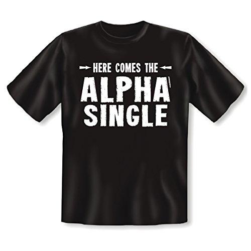 T-Shirt ::: Alpha Single ::: Schwarz Schwarz