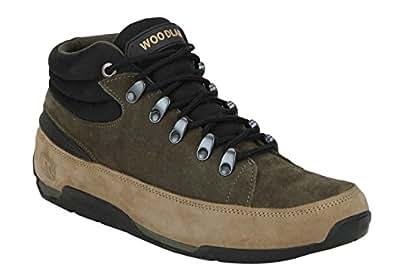 Woodland Men's Khaki Hiking Boots-8 UK/India (42 EU)(GB 2075116)