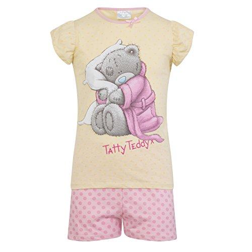 Tatty Teddy - Mädchen Schlafanzug - kurz - Offizielles Merchandise - Geschenk für Kleinkinder - 7-8Jahre