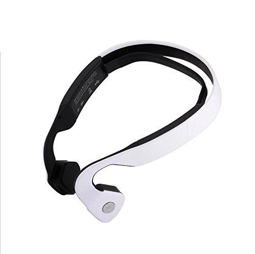Sumeber conduzione ossea cuffie noise cancelling impermeabile vivavoce bluetooth sport cuffie per iphone / andriod e pc con sistema operativo(bianca)