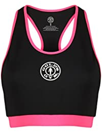 Golds Gym Damen Sporttop Ladies Sports Crop Top With Mesh Lining