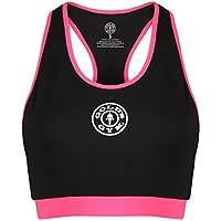 Golds Gym Damen Sporttop Ladies Sports Crop Top with Mesh Lining