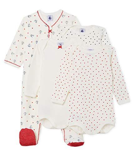 Petit Bateau Baby-Mädchen DORS BIEN + 3 Bodies_5043700 Bekleidungsset, Mehrfarbig (Variante 1 00), 86 (Herstellergröße: 18M/81cm)