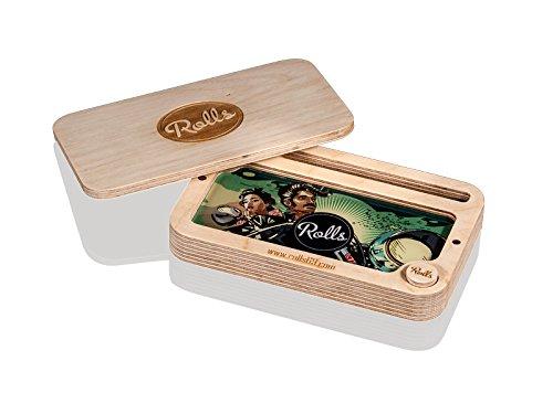 Unbekannt Rolls Secret Box | Rolling Tray mit Geheimfach | Holz Drehunterlage Mischschale mit Fächern | Hohe Qualität Tablet, Bauunterlage, Rolltablet -