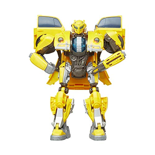 Transformers: Bumblebee Movie Toys, Power Charge Bumblebee Action Figure - Spinning Core, Lights and Sounds - Toys for Kids 6 and Up, 10.5 Inch